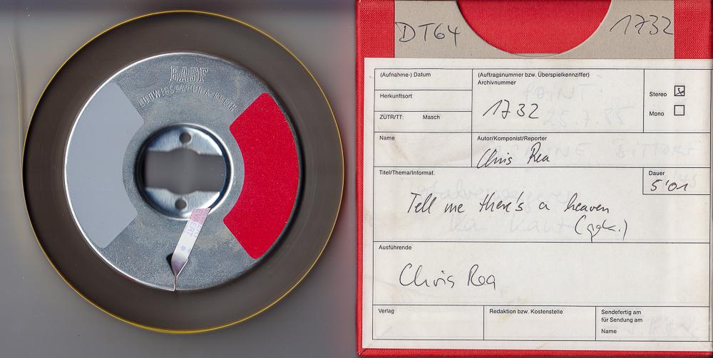 Musikband und SDR-Bandkarton im Berliner Studio von  DT64 für Platz 1732 | Foto: © Jörg Wagner