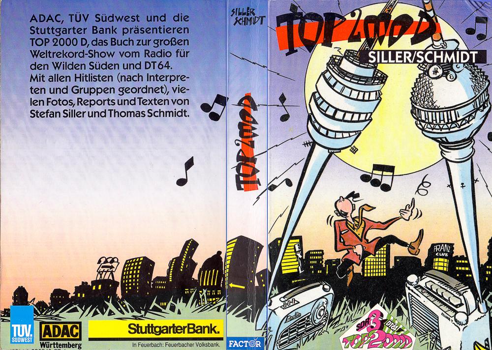 """Buch zur Hitparade """"Top 2000 D"""", Factor Verlag, Stuttgart, 1990"""