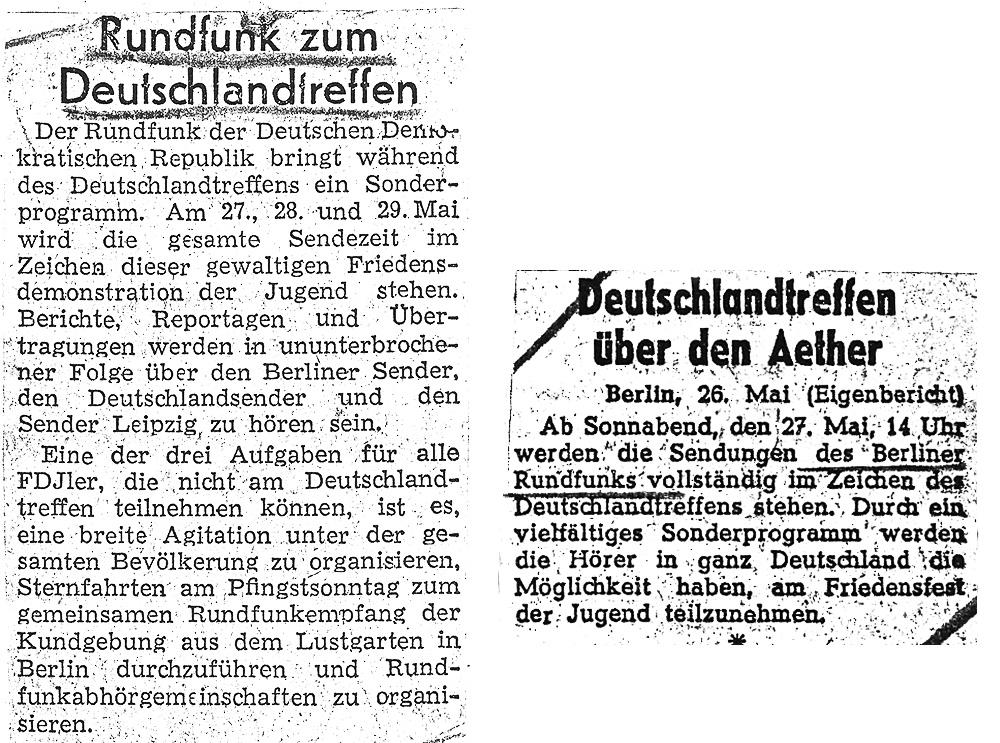 "Quelle: ""Junge Welt"", 23.05.1950 | ""Nachtexpreß"", 26.05.1950"