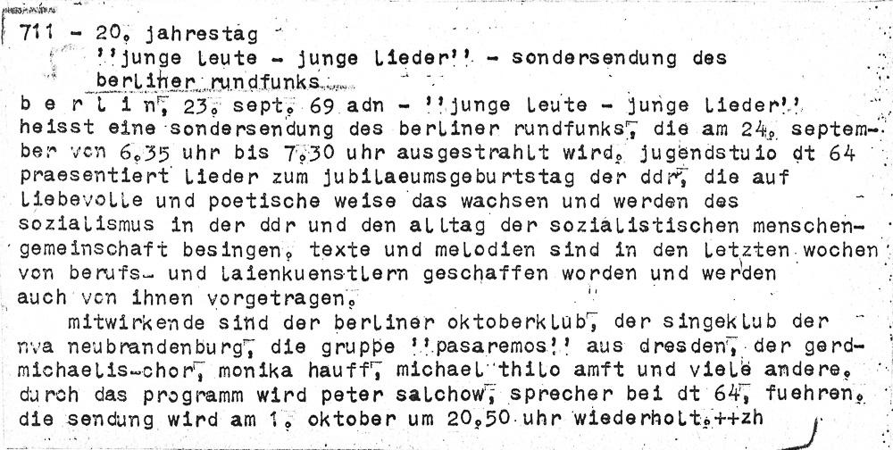 adn-Meldung, 23.09.2969